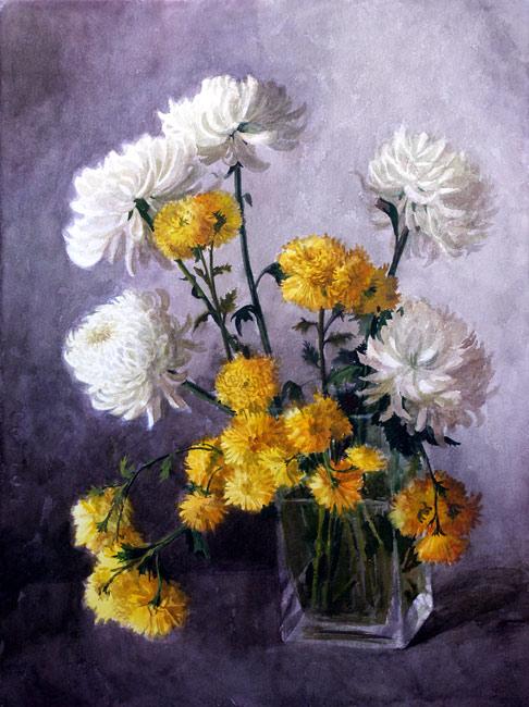 Октябрь, цветы