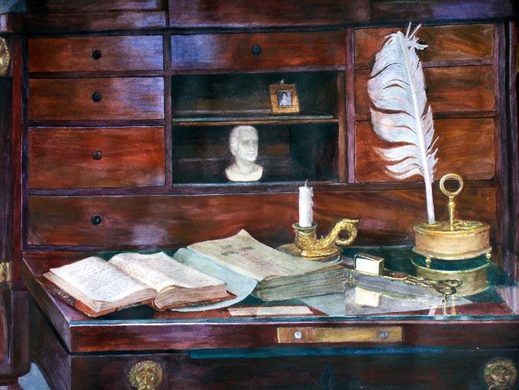 Старинное бюро. Пушканский музей