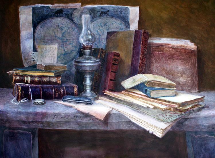 Книги и карта